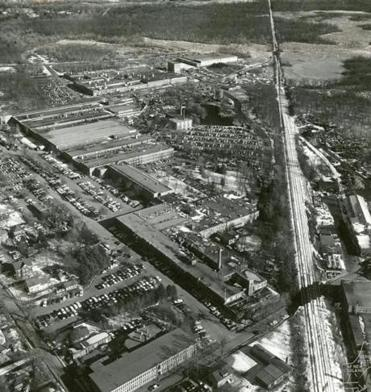 january 18 1966 / Aerial photos of New England / Aerial View of sprawling Texas Instruments Metals and Controls Plant in Attleboro